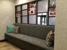 sofa in lobby with some decor