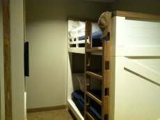 Bunkbed in family suite