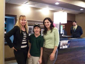 TJ with General Manager Karen Grissom and Sales Manager Rachel Amelkin