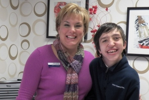TJ with General Manager Vicky Guenther