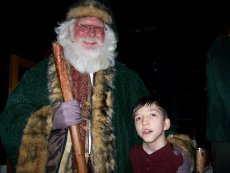TJ with Father Christmas