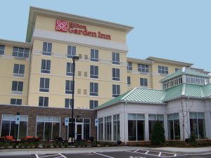 A view of the Hilton Garden Inn Charlotte Airport